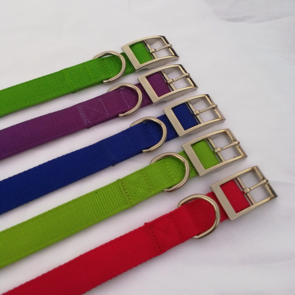 Green Nylon Dog Collar Pet, Waterproof Dog Collar Fashion, Hook&loop Closure Dog Collar Extenders