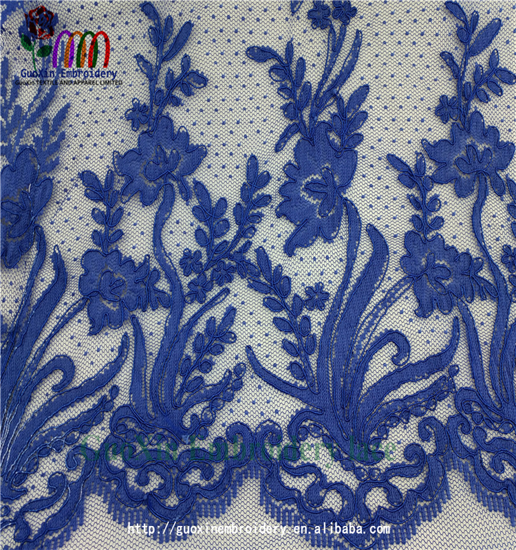 clothing guangzhou guoxin co.,ltd wholesale embroidered lace fabric water articals for garment