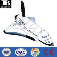 China factory customized pvc Inflatable space shuttle toy plastic space shuttle kids soft toy space shuttle