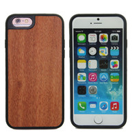 OEM Model Mobile Cover Rose Wood Phone Case for iPhone 6/6sWood Cover