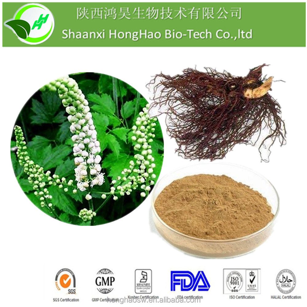 100% Natural Black Cohosh P.E. 2.5% 5% 8% , support curing menopause