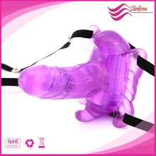 HOT Wireless Remote Control Butterfly artificial penis Vibrator ,fake penis,rubber penis