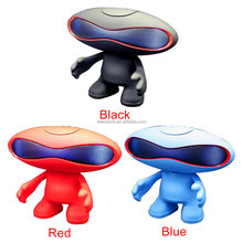 2018 hot selling round Rugby Doll Colorful LED Lights Bluetooth Speaker Robot Portable Audio MP3 Player