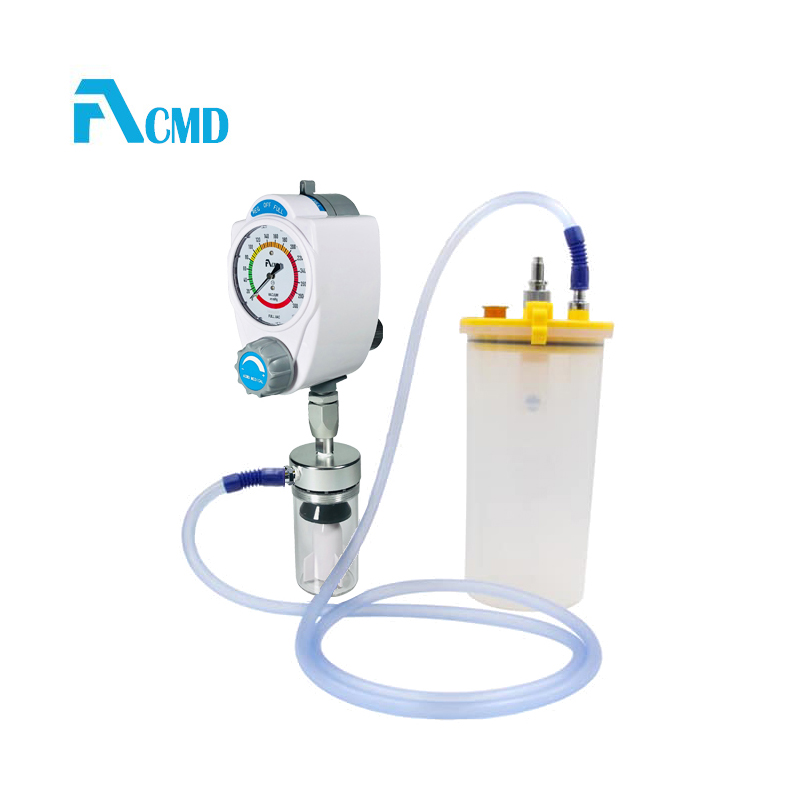 Medical vacuum regulator with suction bottle used on bed head unit