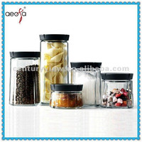 Unique Popular clear glass cookie jars round