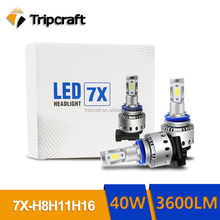 THE MOST HOT SALE LED MOTORCYCLE HEADLIGHT 7X 9005 WITH 2 YEARS WARRANTY