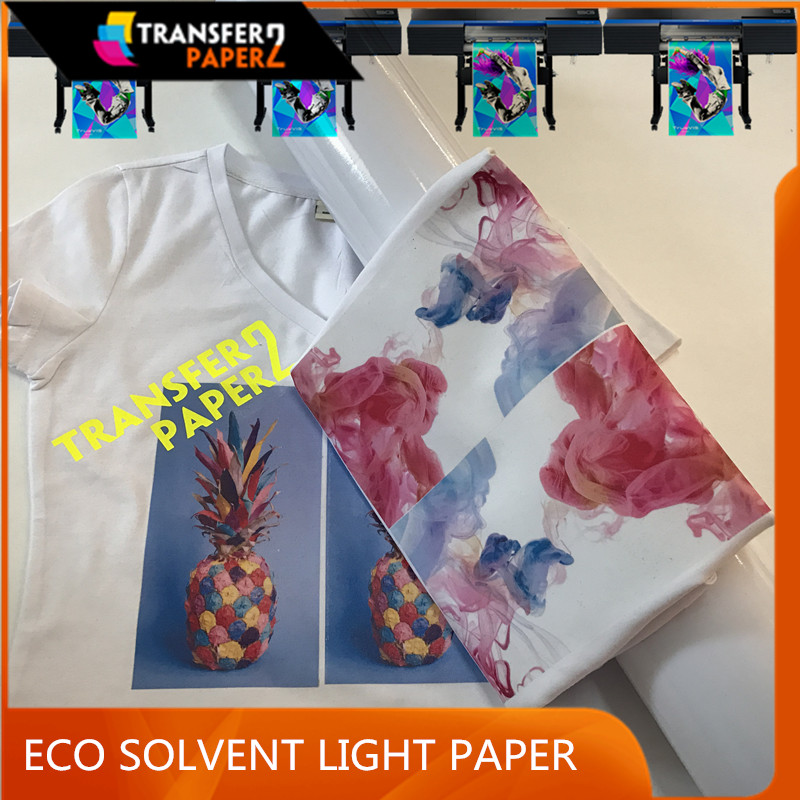 Dark transfer paper with laser printer easy cut and peel for 100% cotton