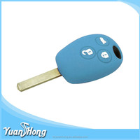 Smart remote car key cover silicone 3 bottons Renault car key cover Dongguan factory made