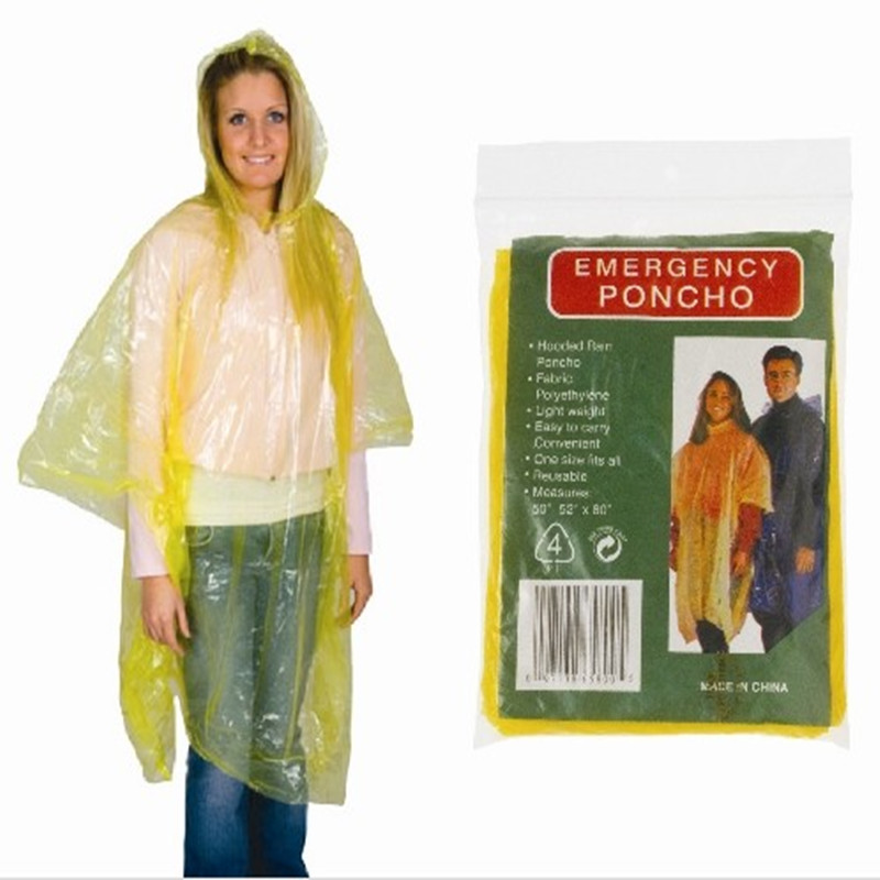 Wholesale Disposable Cheap Emergency Rain poncho/keychain ball Raincoat /rain coat