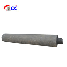 Graphite sheet electrode with tapered nipple for arc furnaces