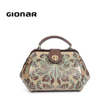 Designer Chinese Retro Style Real Leather Mummy Tote Bag