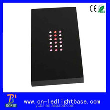 plastic rectanglar lighting base for crystal gift