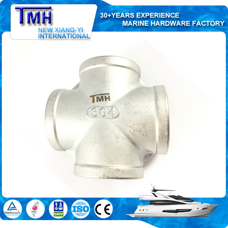 "1/2"" China gold manufacturer Nice looking express stainless steel cross sch80"