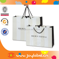 Custom designed mall paper packaging bag, printing logo paper packing bag
