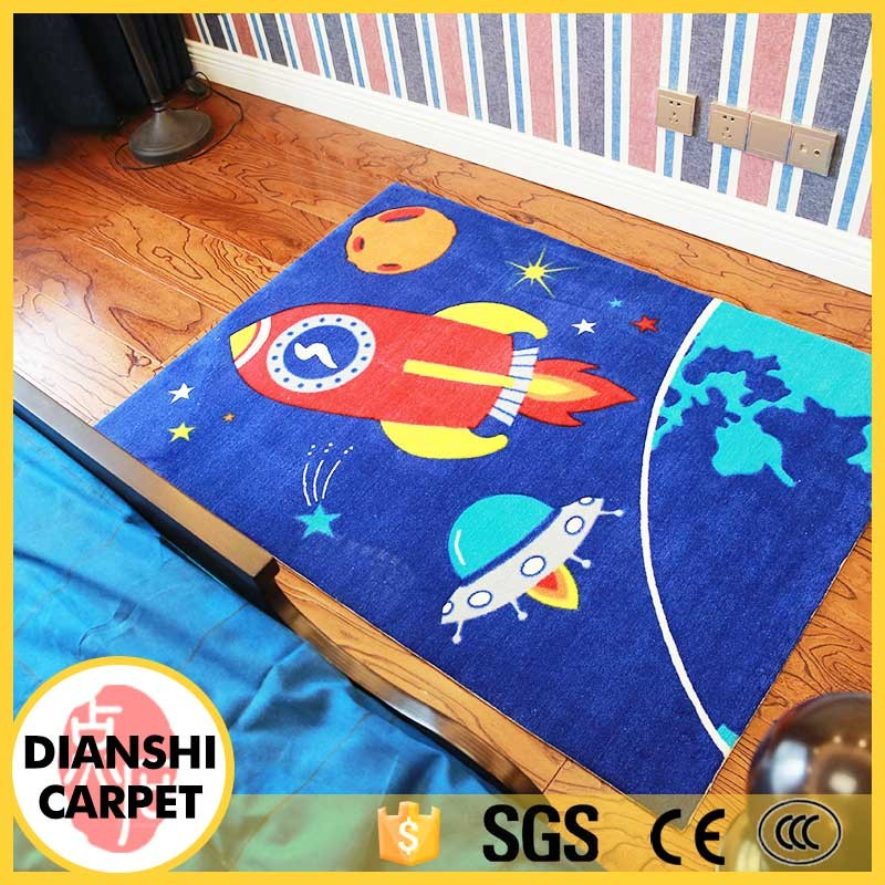 High Quality Wholesale Cute Cartoon Children Crazy Polyester Carpet