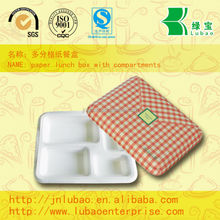 Various &disposable paper lunch box with PE coated paper