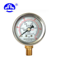 Unique design Y40 no radial edge 0~1MPA high stainless steel oxygen low pressure gauge