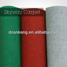 Cheap plain red black green blue purple gray white exhibition carpet roll