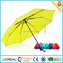 cheapest 21 inch colorful small folding umbrella for lady umbrella and parasol