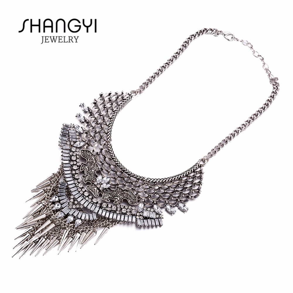 Wholesale Silver Plated Link Chunky Necklace Fashion Jewelry