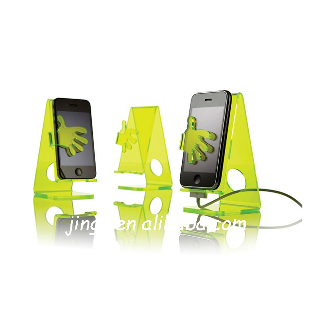 creative design with lovely shape arcylic cell phone display holder