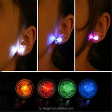 Cheap Led earrings wholesale,party favor free samples double sided earrings made in China fancy earrings for party girls