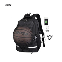 Custom School Kids Backpack Student Soccer Sport Ball Backpack Bag With Balls Compartment
