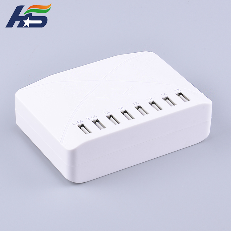 Standard voltage Ac dc 5v power adapter multiport 8 port usb charger