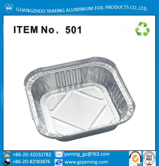 aluminium foil take away foil container for restauran food use with lids