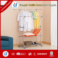 double-pole electric ceiling clothes drying rack