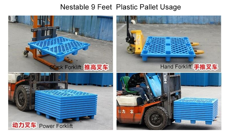 1150*740mm Vented Top 9 Feet Euro Plastic Pallet Production supplier