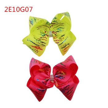 Cute stars bow baby hairpin butterfly gilding girl hair clip Christmas gifts