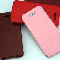 leather luxury pouch vertical flip case for iphone 5 5S