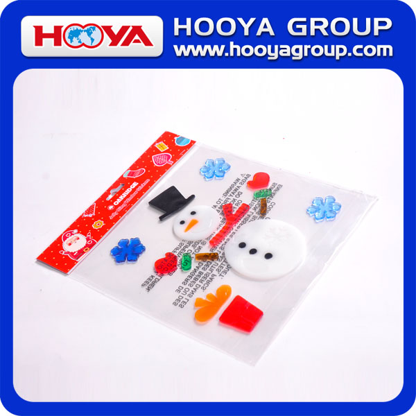 Wholesale cheap custom promotional gift christmas window cling stickers