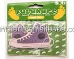 good smell shoes shape hanging paper car air freshener