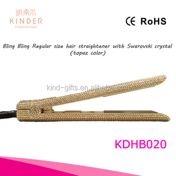 2018 bling crystal design Diamond crystal flat iron magic ionic hot selling hair straightener