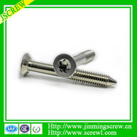 Torx screws zinc plated flat head screw for metal bunk beds machine screw