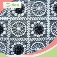 Indian lace embroidery fabric with flower strim decoration for making clothes