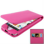 Vertical Style Leather Case with Credit Card Slots for iPod Touch 5
