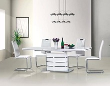 8 seater extendable hideaway dining table and chair set