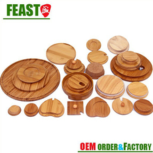 2017 NEW design bamboo coffee cup lid high quality bamboo lid