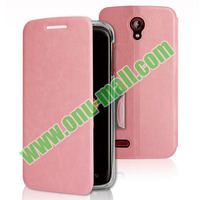 Hot Selling Best Quality Flip Leather case for Lenovo S650 with Holder