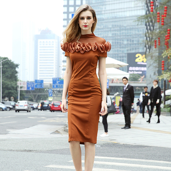 Plus Size Short Sleeve Dresses Hand Flower Design Bodycon Dresses For  Women, View bodycon dress, NIXIYA Product Details from Guangzhou Nixiya  Garment ...