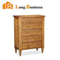 LB-VW5030 Deep slim lingerie chest of six drawers with elegant legs