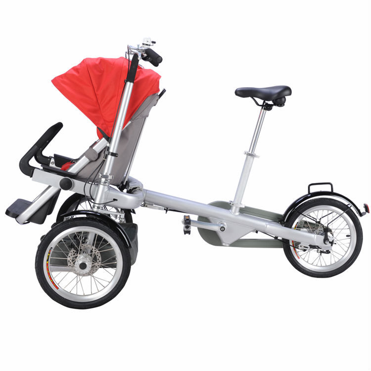 European Style High Quality Easy Folding Mother And Baby Bike Stroller Rain Cover