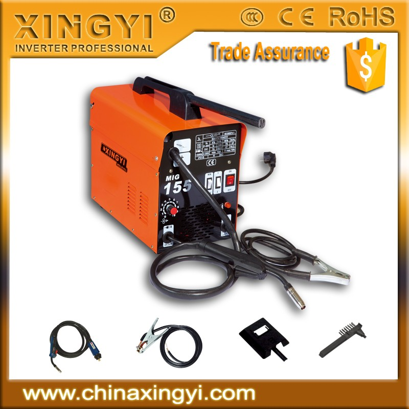 CHEAP MIG/MAG/CO2 WELDER NO GAS MIG-135 SMALL PORTABLE DC MIG WELDING MACHINE
