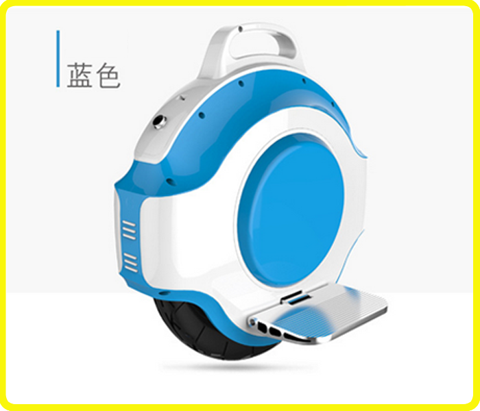 Blue-white one wheel electric scooter , CE RoHS 350w 1 wheel self balancing scooter , FCC electric air wheel with bluebooth
