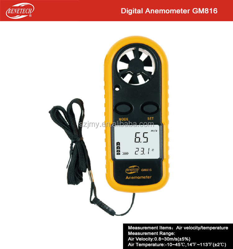 High Accuracy Air Velocity Flow Temperature Hot Wire Anemometer wind meter anemometer Digital Anemometer