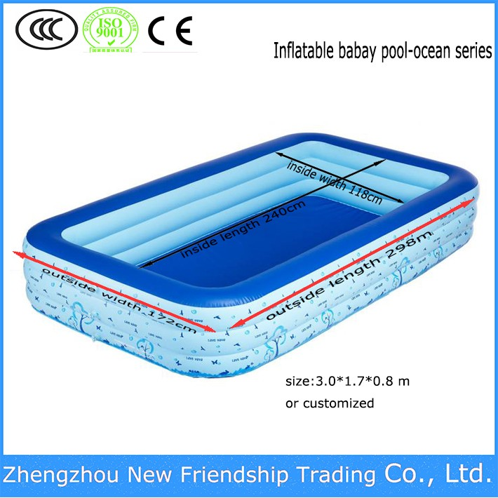 Inflatable baby swimming pool for children water games