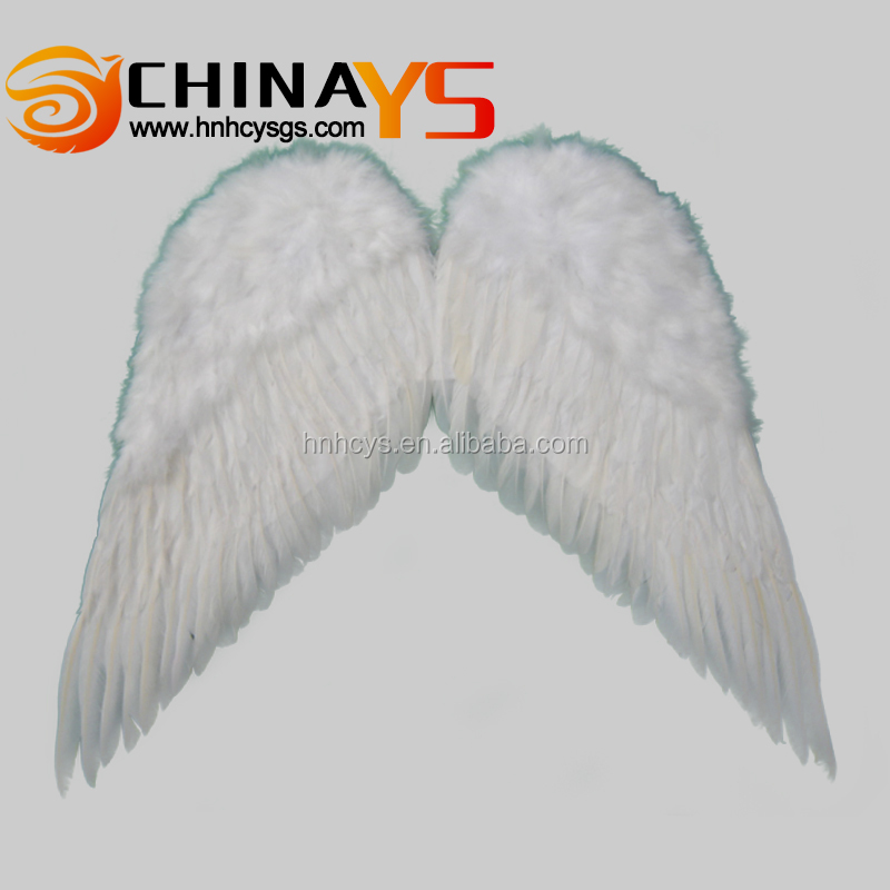 BSCI audit angel wing charms YS8028 75X70CM white feathers on promotion